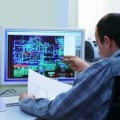 People / Technology / Engineer with CAD