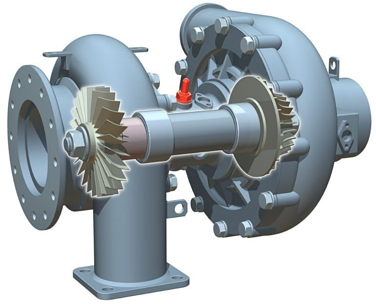 3D CAD Model Turbine