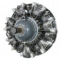 A 3D CAD model of an aircraft engine