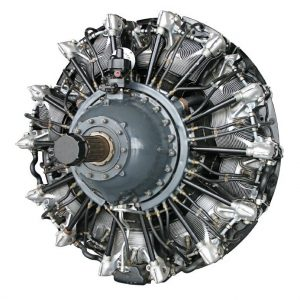 A 3D CAD model of an aircraft engine