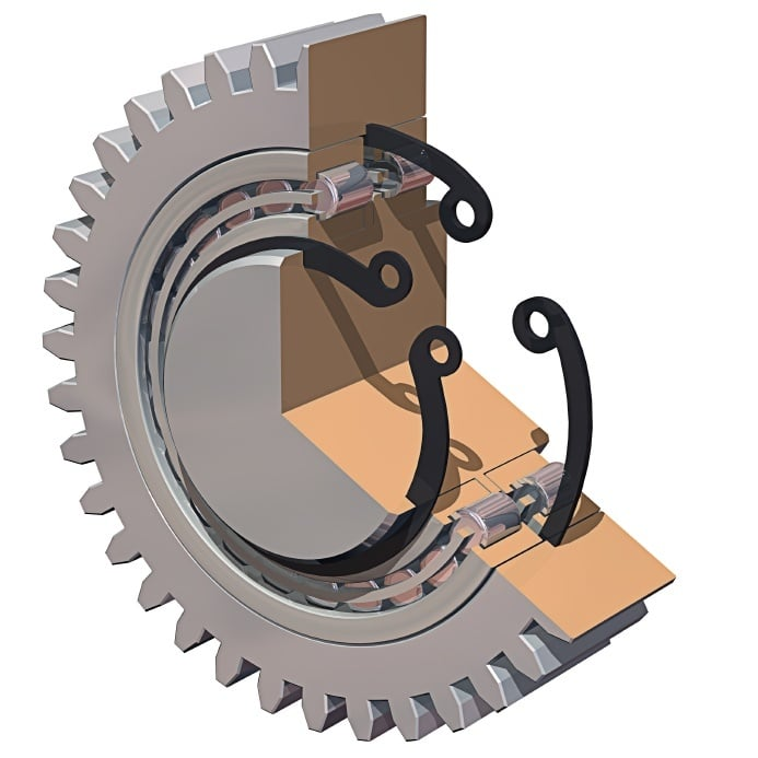 3D CAD Model Gears and Bushings