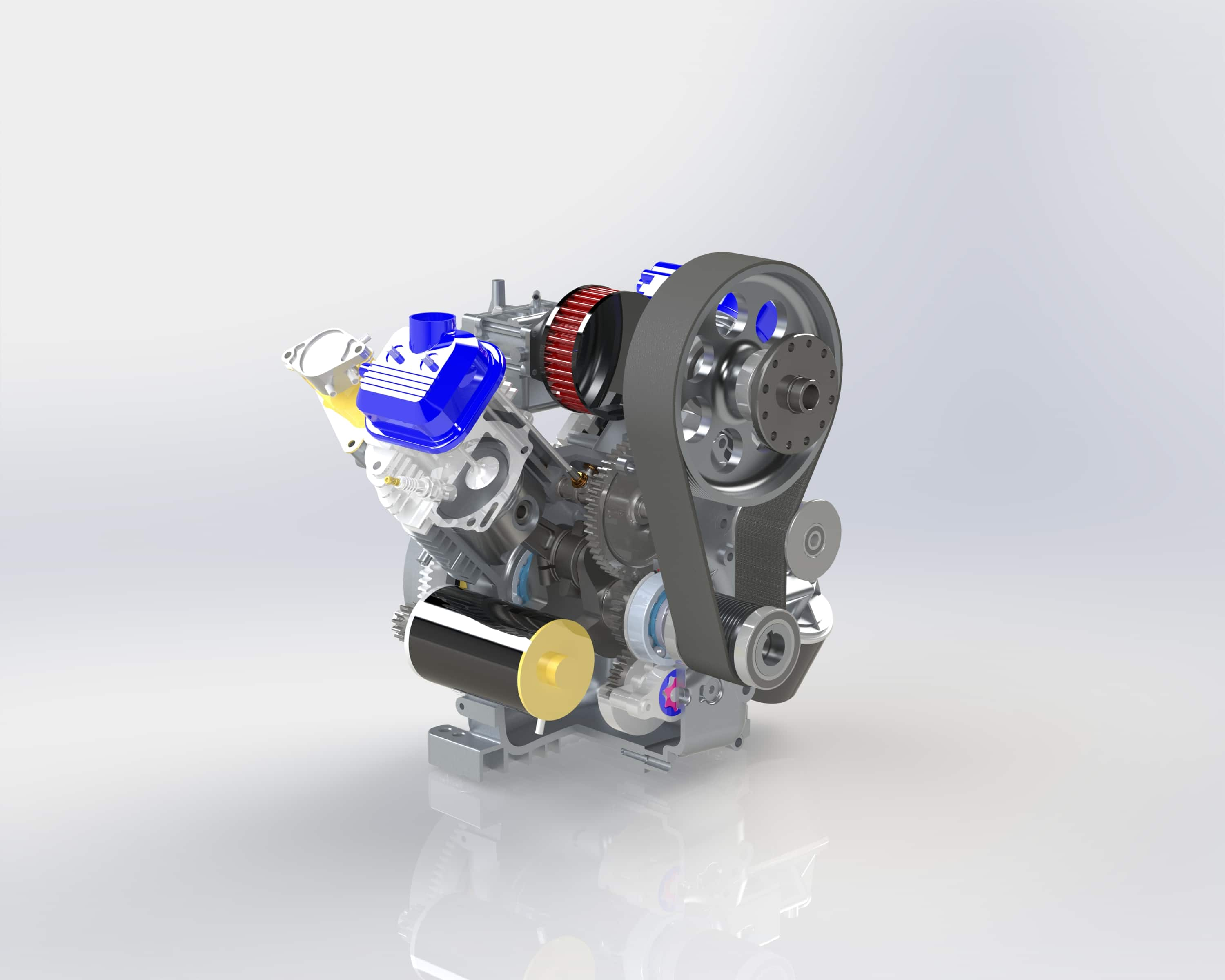 3D CAD Model Small Engine