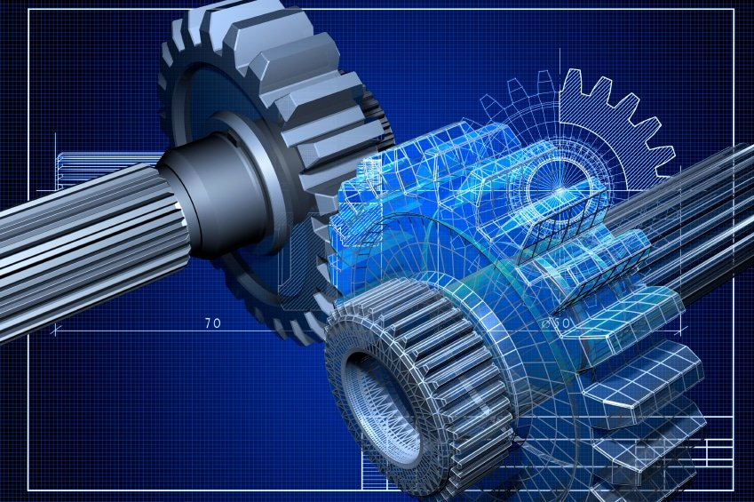 3D CAD Model Gears Wireframe