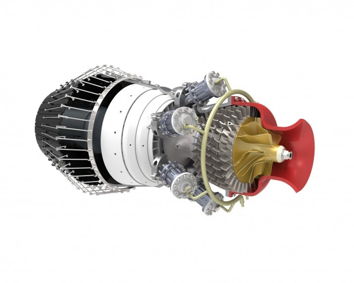 3D CAD Model Jet Engine