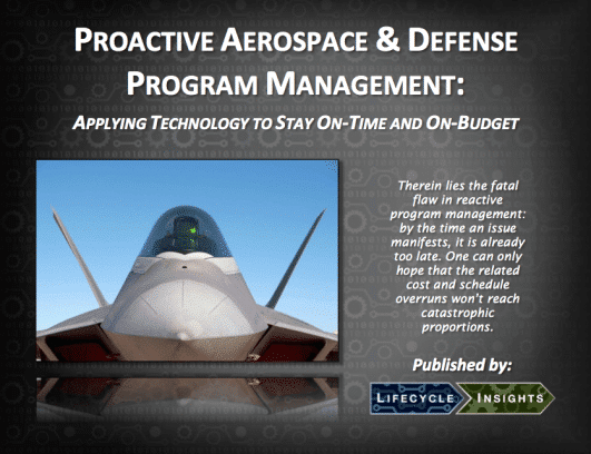 eBook Cover / Proactive Aerospace & Defense Program Management