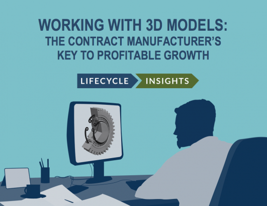 eBook Cover / Working with 3D Models The Contract Manufacturers Key to Profitable Growth