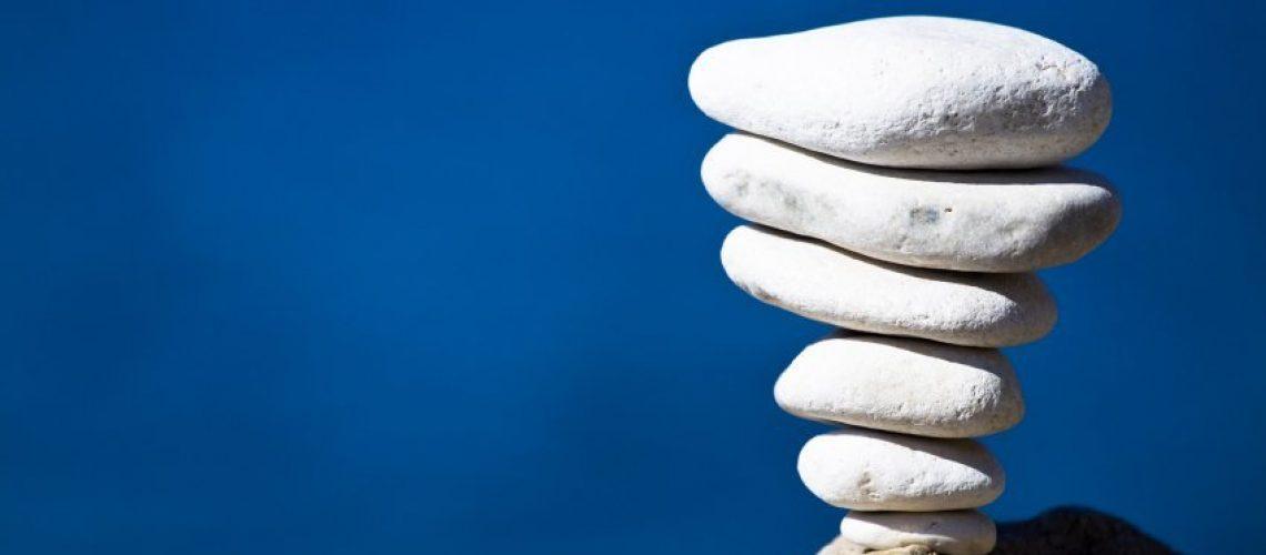 White stones stack